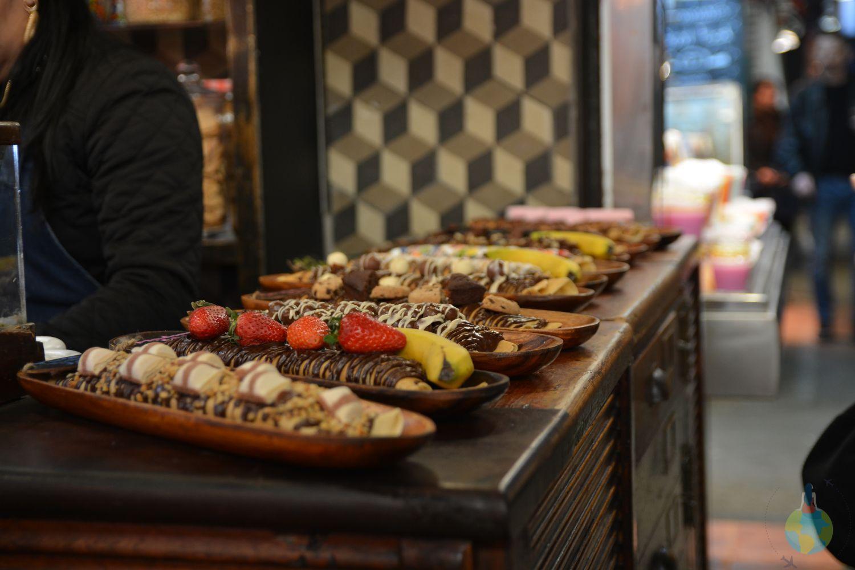 Barcelona La Boqueria - clatite uriase, taraba, boccadillos, tapasm mercado, mancare