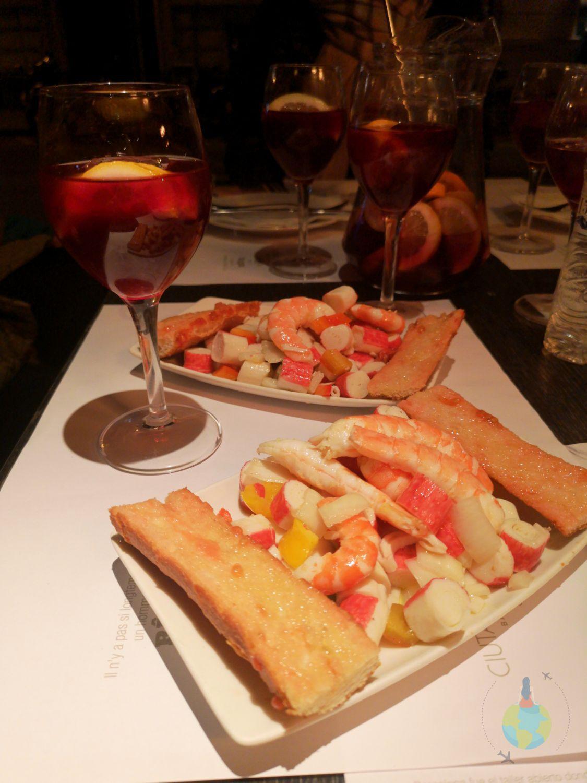 Barcelona mancare spaniola specialitate Mariscos - fructe de mare Artespañol, Paellas & Tapas