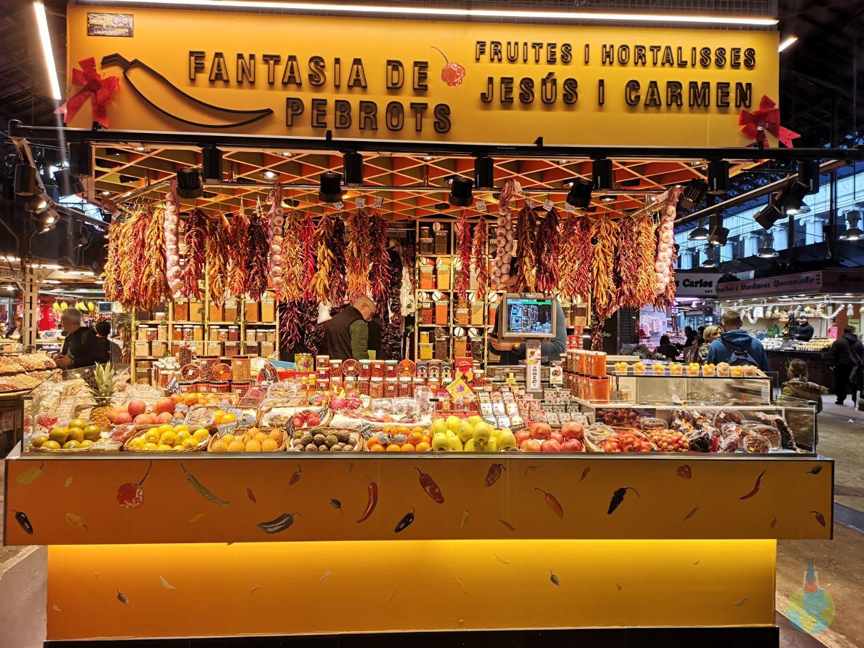 La Boqueria - jamon, taraba, boccadillos, tapasm mercado, mancare