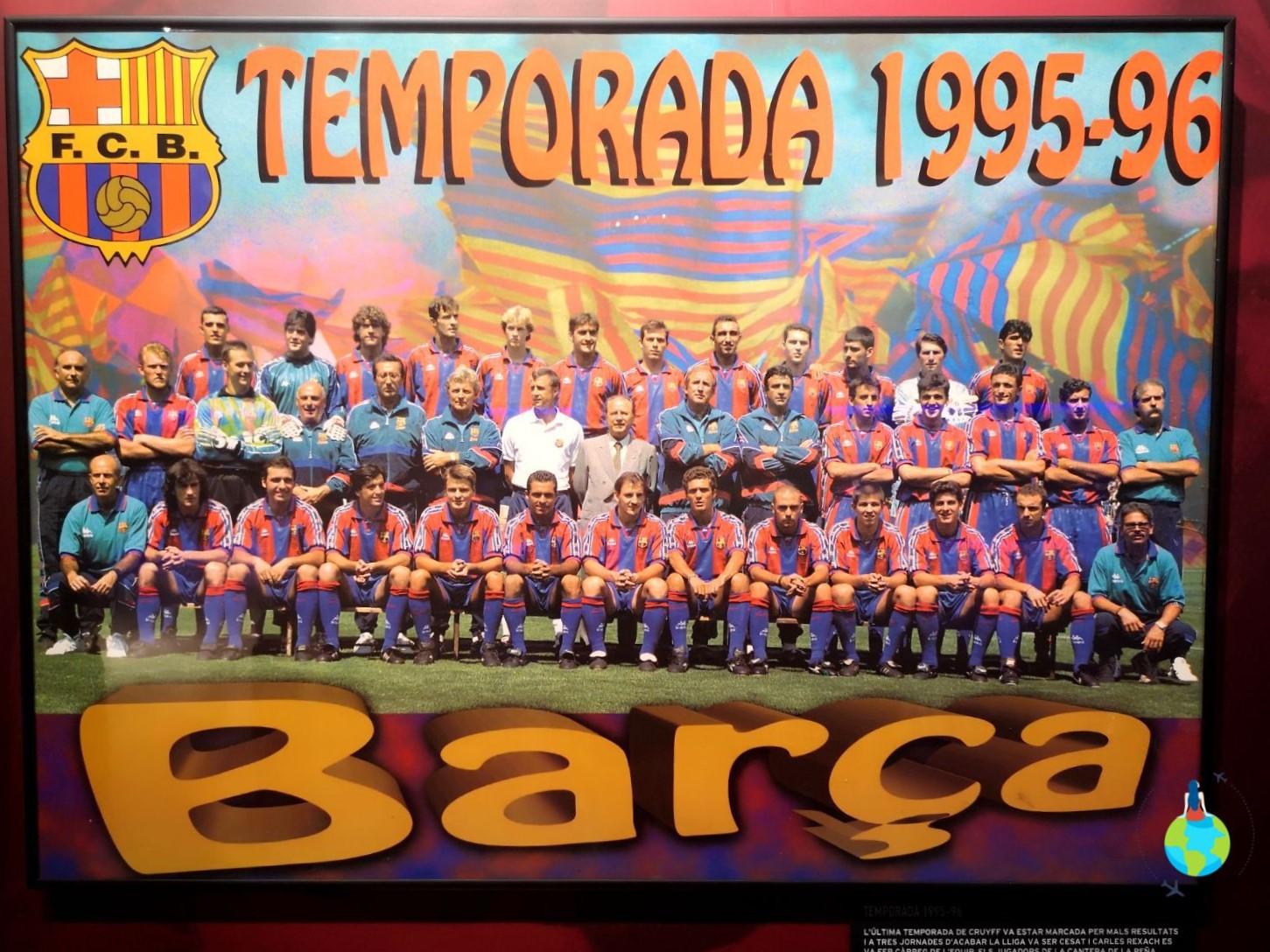 Afis FC Barcelona '95-'96 echipa hagi popescu