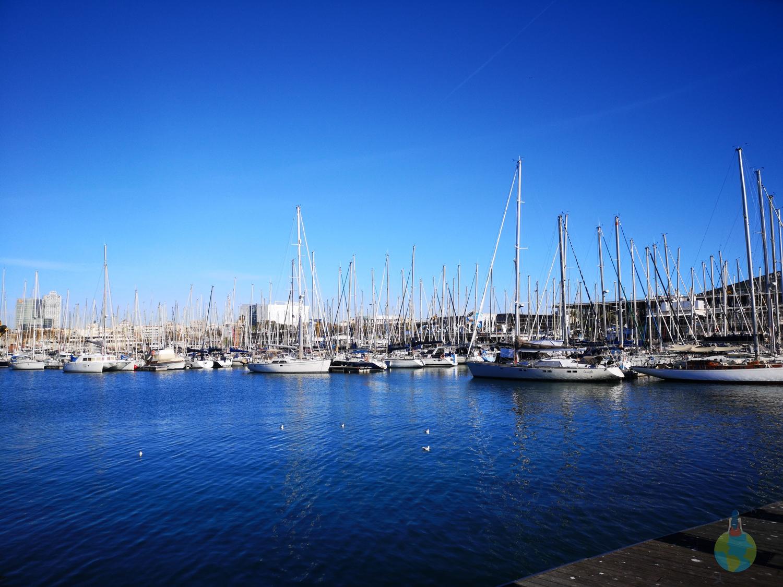 Portul Barcelona poza zi soare relax