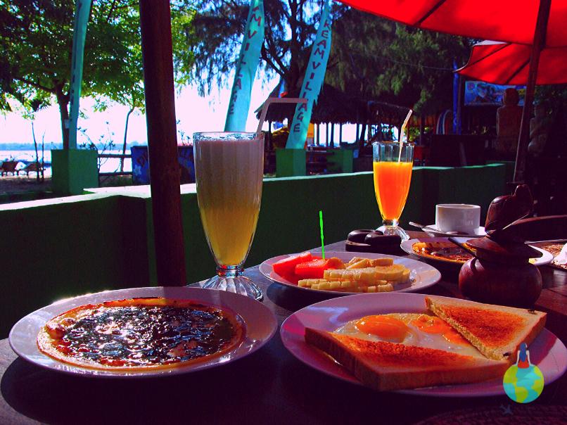Mic dejun Gili Trawangan