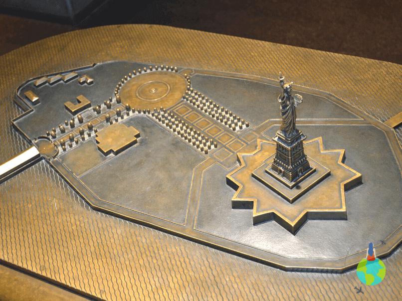 Replica Ellis Island din Muzeul Statuii Libertății