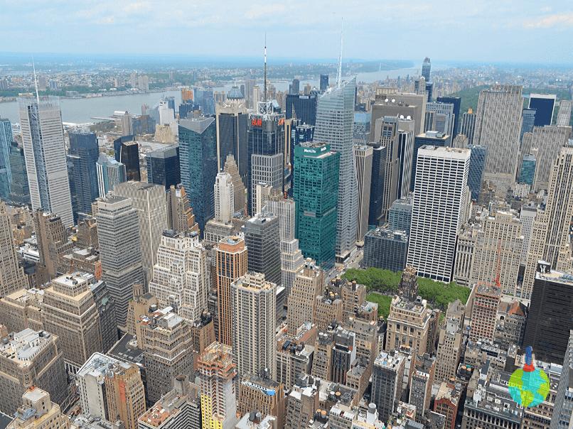 New York văzut de pe Empire State Building