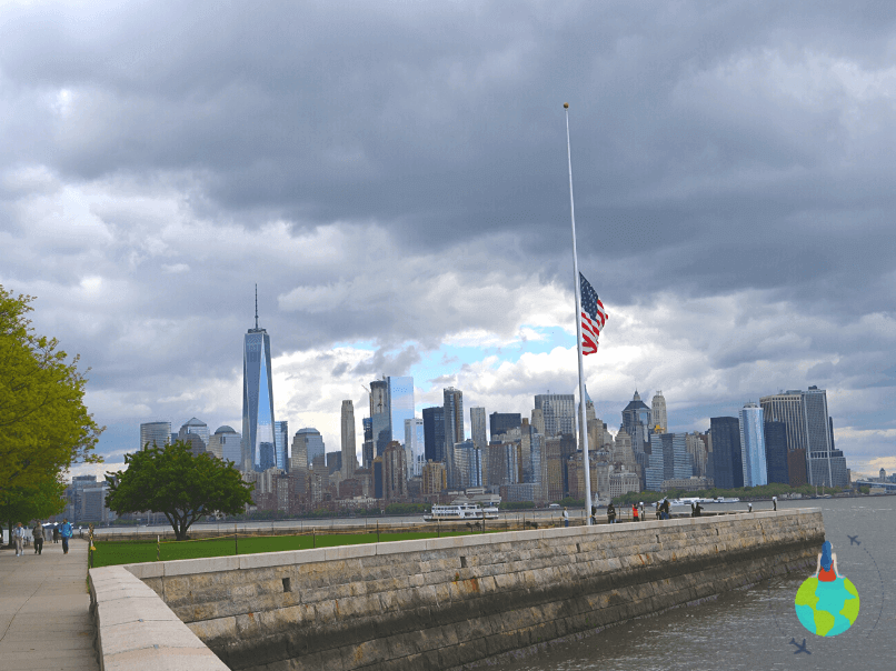 Manhattan văzut de pe Ellis Island