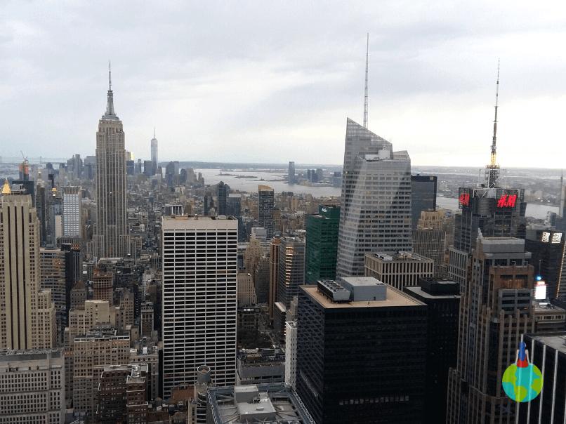 Manhattan văzut de pe Top of the Rock - Rockefeller Center