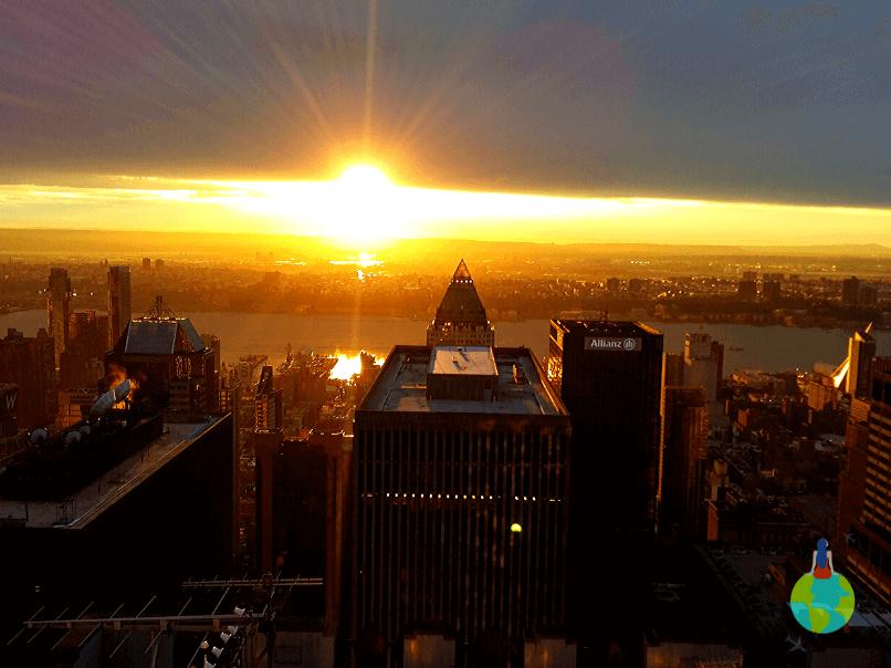 Apus văzut de pe Top of the Rock - Rockefeller Center