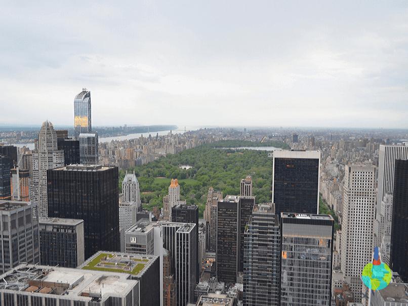 Central Park văzut de pe Top of the Rock - Rockefeller Center