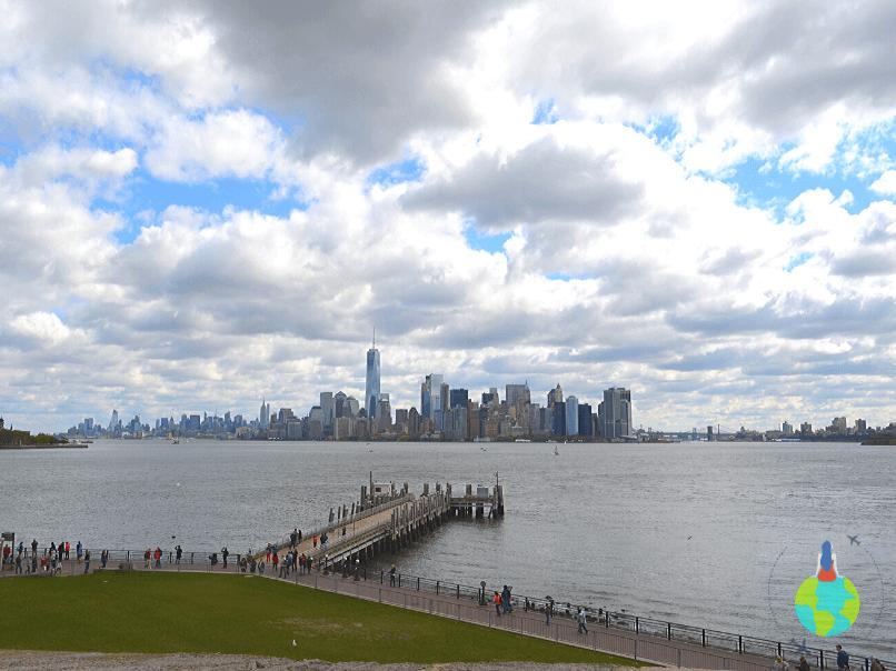 Manhattan văzut de pe soculul Statuii Libertății 1