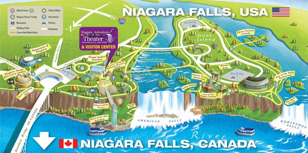 Harta Cascadei Niagara