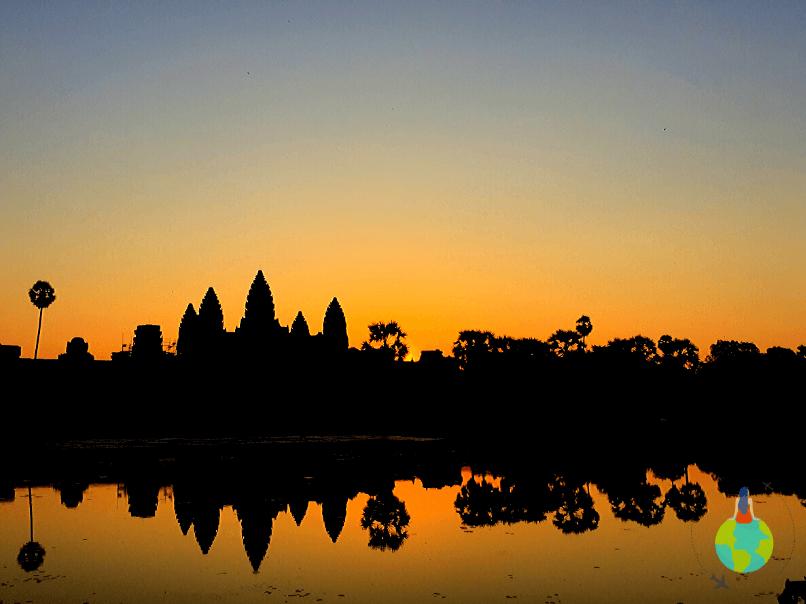 Răsarit în Siem Reap Cambodgia