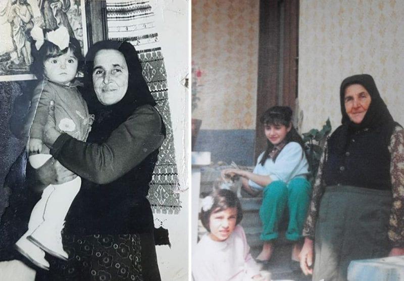 Mama Ruța cu nepoatele ei - Alina și Ioana
