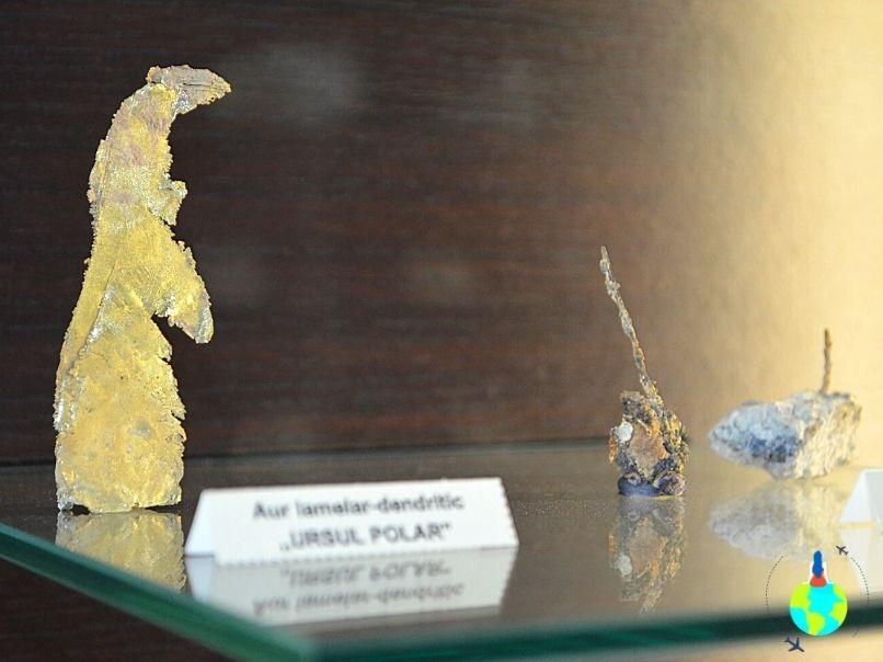 Filon de aur expus la Muzeul Aurului de la Brad